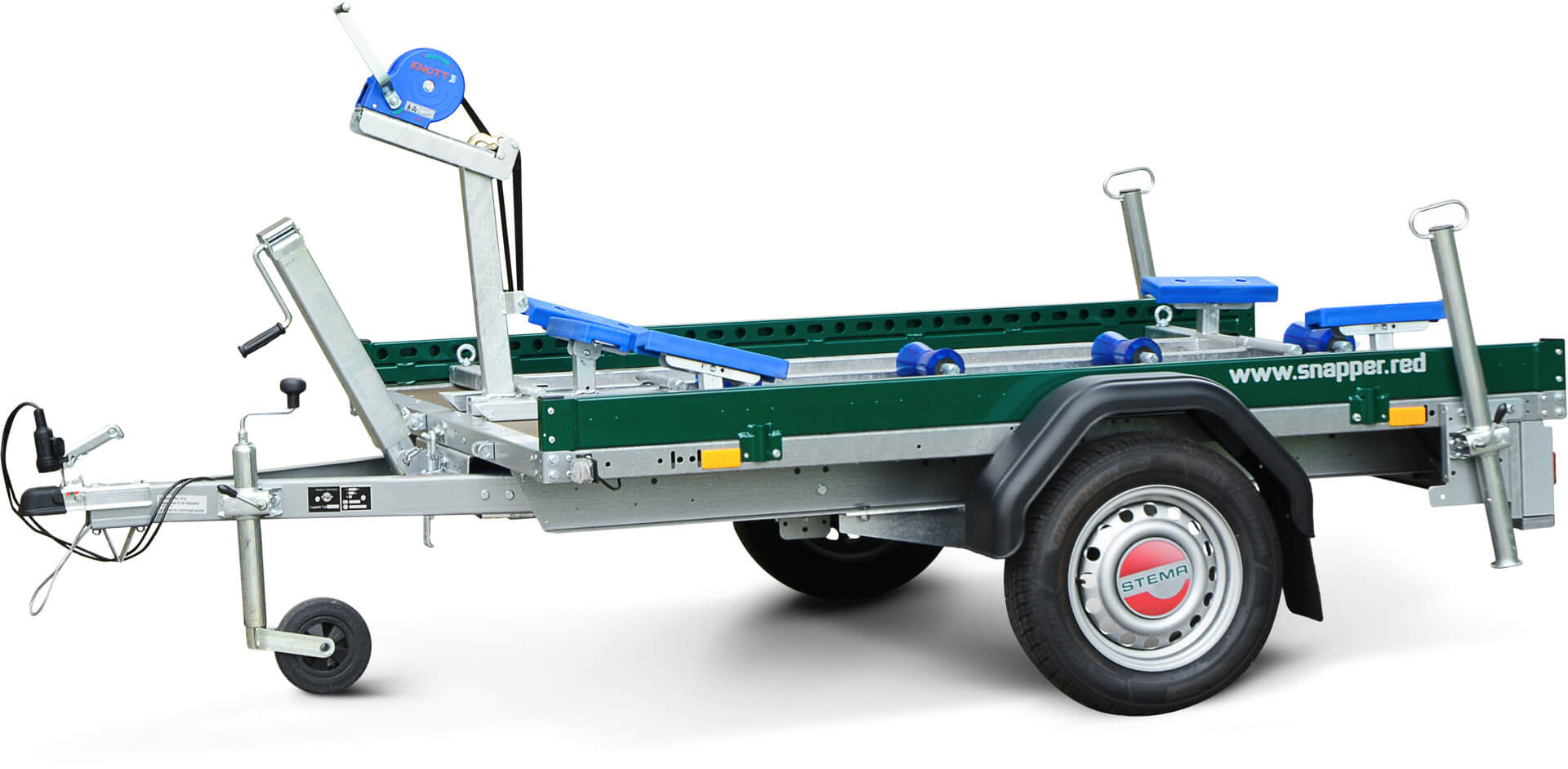 red snapper - Anhänger + Transportgestell + Kompaktboot